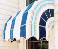 curved window awning